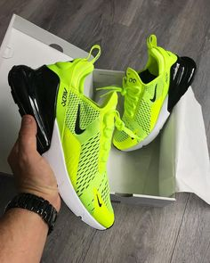 "sale retailer 9f7fd 128a7 Airmaxalways on Instagram  ""Nike Airmax 270 x  Volt  🎾 • These are looking  so nice in hand! 👀 Nice pick up  michaelpblake 👍🏼 • 🌟 Keep using ..."