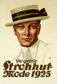 Plakat: Strohhutmode, 1925