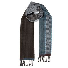 WALLACE & SEWELL PATCHWORK SCARF- Distinguished by their striking woven…
