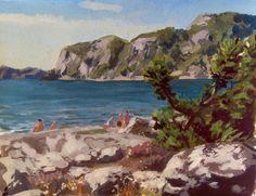 goauche paintings, Sweden, David Le Merrer on ArtStation at https://artstation.com/artwork/goauche-paintings-sweden