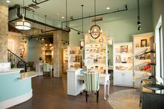 Beautiful optical boutique in Optometry practice. Clean design with character. Dr. Gaddis Optical office
