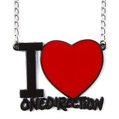 I Heart One Direction Pendant Necklace