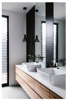Timber in a bathroom, love it