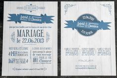 Mariages Rétro: Les faire-parts rétro Haut de Forme Studio