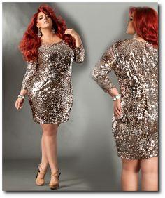 plus size clothing | Sequin Plus Size Clothing Samantha-Sequin-Plus-Size-Dress – Plus ...