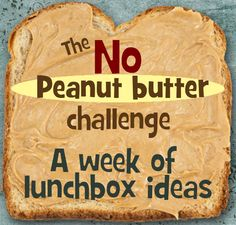 Lunchbox ideas without peanut butter in @Kelly Lester / EasyLunchboxes from mamabelly.com