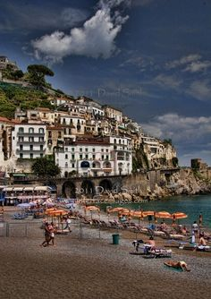 Beach scene in Amalfi, on the Amalfi Caost in Italy by Interface Images, via Flickr