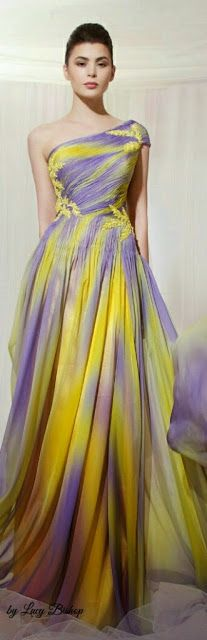 yellow and purple combination dresses