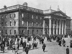 How much do you know about the 1916 Easter Rising? Above: The ruins of Dublin's GPO after the Rising.