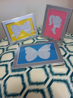 How to Make Framed Cutout Room Decorations