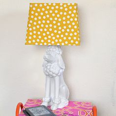 It's so simple to make a lamp out of a statue. Follow this easy tutorial and have your favorite decor item (mine is a pink poodle!) lighting up the place!