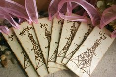 Set of 8 Personalized Party Favors for Paris Themed Birthday Party - Eiffel Tower French Themed Party. $99.99, via Etsy.