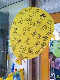 Kleuterjuf in een kleuterklas: Thema FEEST Teacher Party, Realistic Fiction, Teaching, Education, Paper, Birthday, Holiday, Crafts, Carnival