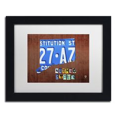 Connecticut License Plate by Design Turnpike Framed Graphic Art