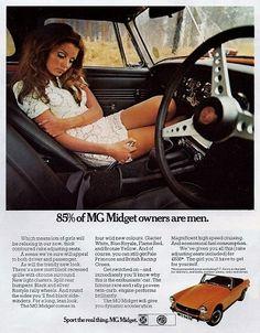 MG Midget Vintage Car Print 1970 Advertising Wall by RetroAdverts