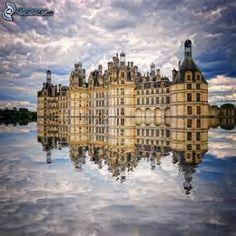 Château de Chambord , Cosson , eau , reflexion , nuages