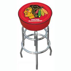 NHL Chicago Blackhawks Bar Stool by Trademark Global. $79.99. The officially NHL licensed, Chicago Blackhawks logo padded bar stool will be the highlight of your bar and gameroom. A 30-inch high bar stool great for bar pub table and bars. Great for gifts and recreation decor.
