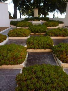 Cubist Garden, designed by Pablo Picasso, at the Villa de Noailles in Hyeres, France