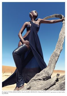 Christoph Köstlin - those without Shadows // 05 // Namibia // Sossusvlei // desert editorial // fashion editorial // black skin // fashion model // african model // south africa