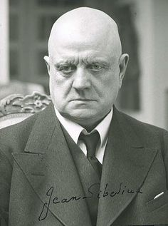 "Jean Sibelius (1865-1957) the great Finnish composer of ""Finlandia."""