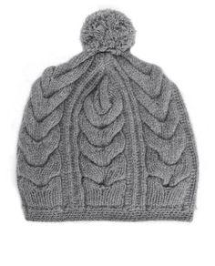 rag & bone Official Store, Cara Beanie - Grey, grey fl, Womens : Accessories : Hats, Scarves & Gloves, W235K01KW