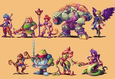 Breath Of Fire II Characters Capcom Gaming Videogiochi Art Arte Fantasy Character Design, Character Art, Pixel Life, Arte 8 Bits, Anime Pixel Art, Pixel Animation, Pixel Art Games, Character Illustration, Game Art