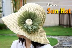 Crochet: Straw Sun Hat {Free Pattern}