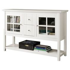 Walker Edison Console Table TV Stand - White (Fits TV upto 52
