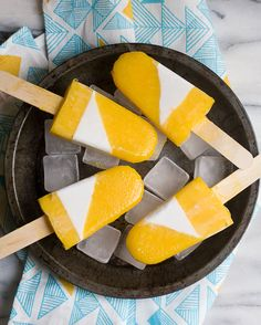 Mango Cardamom and Sweet Coconut Popsicles