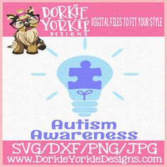 Autism awareness  Check out this item in my Etsy shop https://www.etsy.com/listing/523159797/sale-autism-light-puzzle-svgdxfpngjpeg