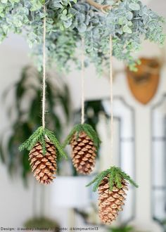 DIY Holiday Floral Chandelier with Artificial Pine Cones Christmas Door, Rustic Christmas, Christmas Time, Christmas Wreaths, Christmas Crafts, Primitive Christmas, Bohemian Christmas, Father Christmas, Christmas Snowman
