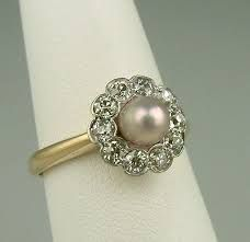 Image result for pearl wedding rings