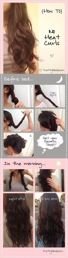 Twist and Twirl No Heat Curls- No More Ironing, No More Worrying.