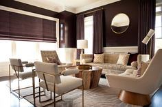 The Shade Store Tailored Pleat Drapes In Velvet | Barrett Oswald Designs  Living Room Windows,