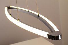 LED Hängeleuchte Design Pendellampe Leuchte Chrom Hängelampe Lampe Pendelleuchte…
