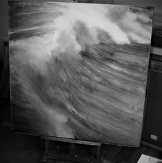 Today a new wave rolled into my studio….My canvas isdripping. To be continued….
