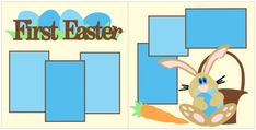 First Easter Scrapbook PageKit. $8.00