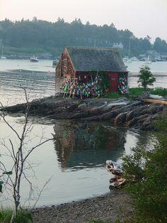 Bait Shack. Mackerel Cove, Bailey island, Maine.