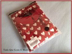 Tudo Que Gosto e Muito Mais: Burgundy Heart Shirt Romwe