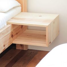 Practical hanging box made of solid z . Practical hanging box made of solid pine wood. Due to the simple appearance of this bedside table made of stone pine to all stone pine beds and so the bed can be extended later – just hang in the bed frame. Pallet Furniture, Bedroom Furniture, Home Furniture, Furniture Design, Pine Wood Furniture, Handmade Furniture, Furniture Dolly, Furniture Layout, Furniture Ideas