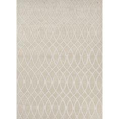 Jaipur Rugs Handloom Geometric Pattern Ivory/White Wool Area Rug MT03 (Rectangle)