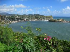 Dennery Lookout offers a sweeping view of Dennery Bay on the east coast of St. East Coast, Caribbean, River, Outdoor, Outdoors, Rivers, The Great Outdoors
