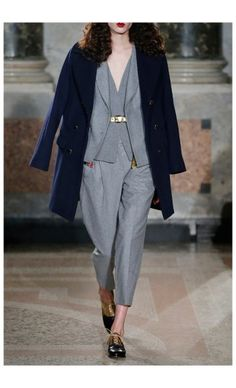 BLUGIRL – FALL WINTER 2015 – PREORDER HERE: http://www.precouture.com/en/6817-wool-coat-cropped-pants PRECOUTURE.COM is the first European website offering the possibility to preorder the looks straight from the runway. Order your looks now and wear them before anyone else, before it hits stores !