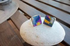 Square rings with polymer clay