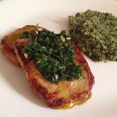 Chimichurri recipe (for chimichurri pork chops with spinach-artichoke mash) #whole30 #paleo