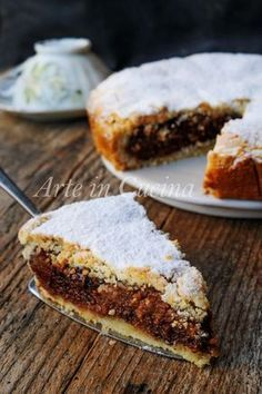 Quick and easy short chocolate puff pastry cake Italian Cake, Italian Desserts, Pie Dessert, Dessert Recipes, Bakery Recipes, Sweet Tarts, Nutella, Cake Cookies, Chocolate Recipes