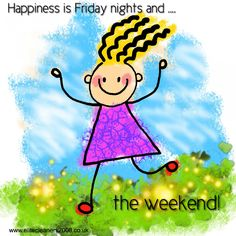 Happiness is Friday nights and the weekend! #TGIF