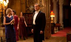 Rose leads Cousin Robert out to the saloon for his birthday surprise. #DowntonAbbey