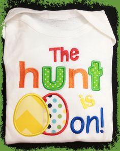 Easter Egg Hunt Infant Onesie or Baby/Toddler T-Shirt - Boy or Girl. $12.00, via Etsy.