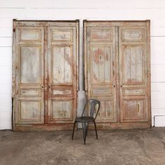 distressed french pannel doors